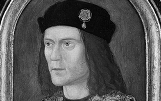 Portrait of Richard III of England, painted c. 1520 (approximate date from tree-rings on panel), after a lost original, for the Paston family, owned by the Society of Antiquaries, London, since 1828.