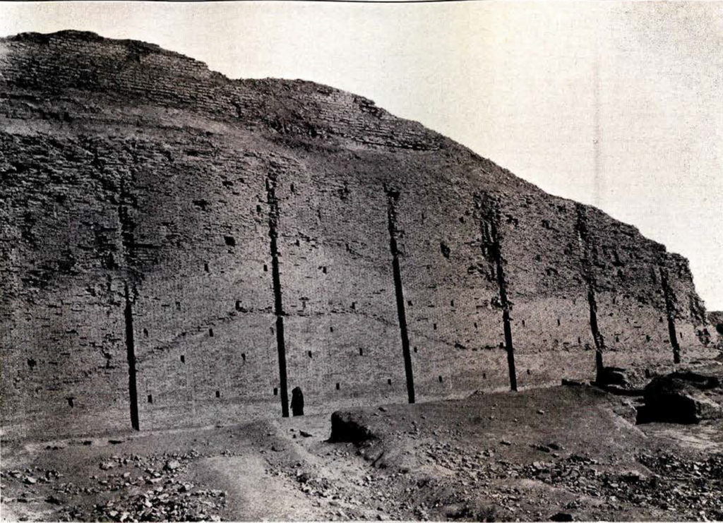 A huge excavated wall