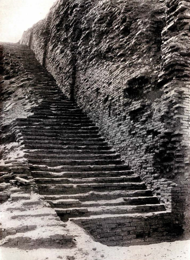 A stairway leading up