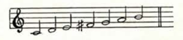 A series of musical notes