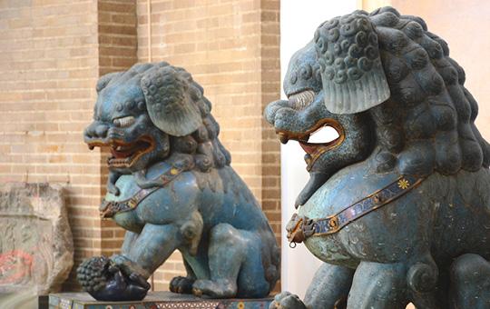 The Cloissone lions